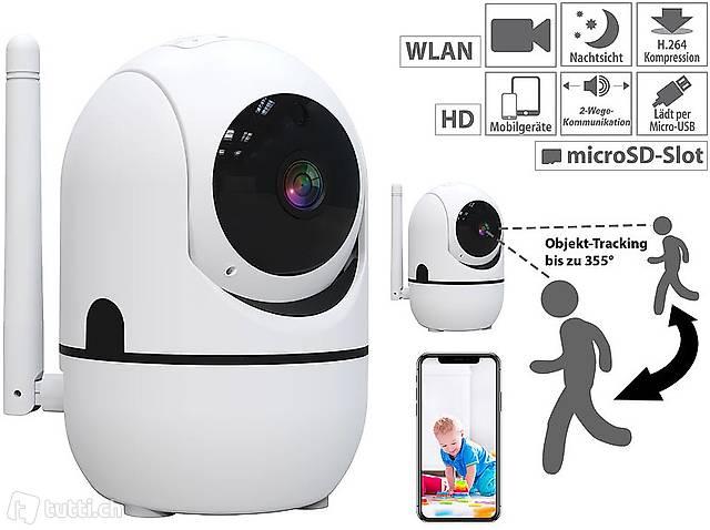 WLAN Kamera: WLAN-IP-Überwachungskamera mit Objekt-Tracking