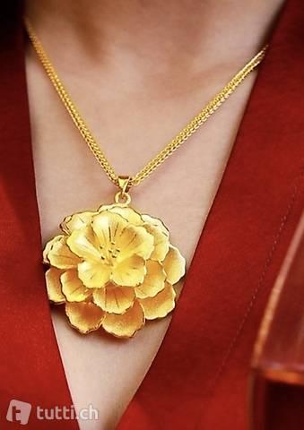 Rosenanhänger für Halsketten