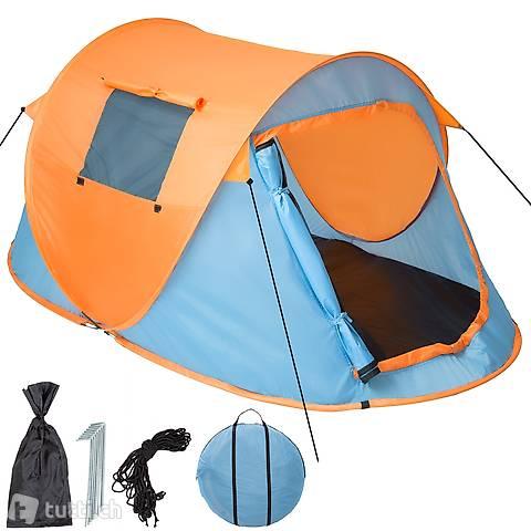 Tenda da lancio Pop Up, blu/arancione (Consegna gratuita)