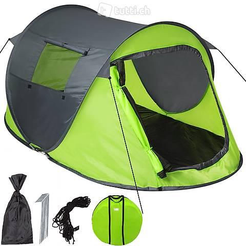 Tenda Pop Up Throw, grigio/verde (Consegna gratuita)