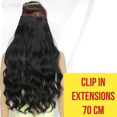 Clip hair extensions echthaar 70 cm