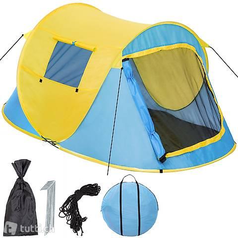 Tenda da lancio Pop Up, blu/giallo (Consegna gratuita)