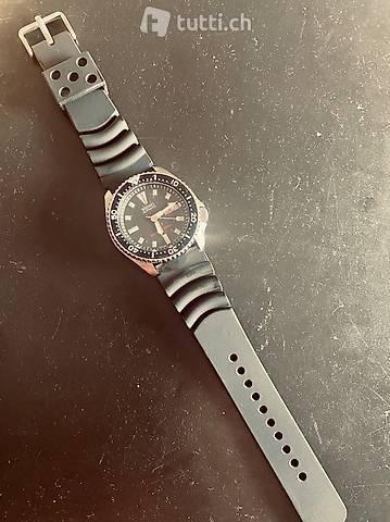 Kautschuk Uhrenband schwarz 22mm neu