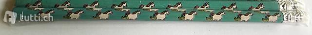 2 Einhorn Bleistifte türkis