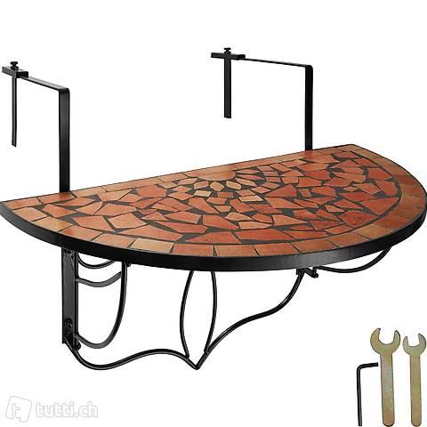 Tavolo da balcone mosaico pieghevole (Consegna gratuita)
