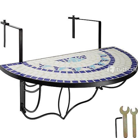 Tavolo da balcone Mosaico pieghevole (Consegna gratuita) 2