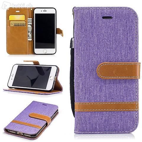 IPHONE 6S Housse Flip Etui Cover Case Wallet Hülle Schutz V