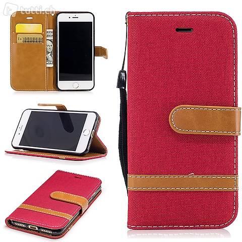 IPHONE 6S Housse Flip Etui Cover Case Wallet Hülle Schutz R