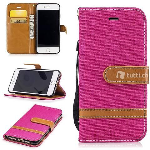 IPHONE 6S Housse Flip Etui Cover Case Wallet Hülle Schutz R.