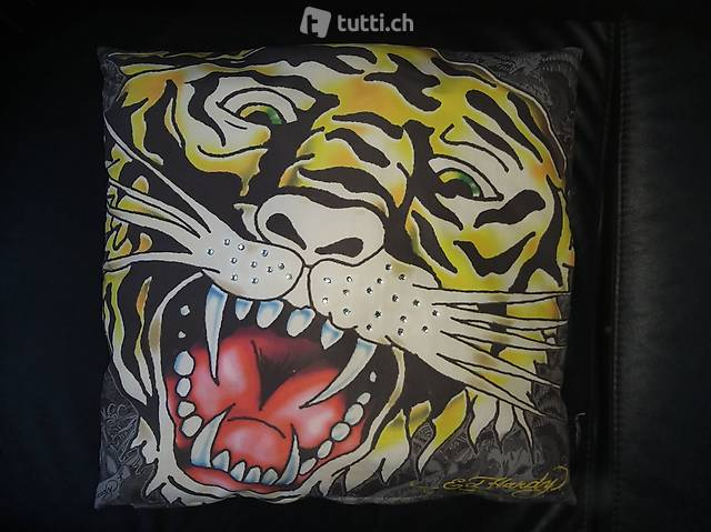 "Kissen  ""brillianter Tiger"" Ed Hardy by Christian Audigier"