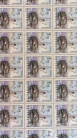 71 Briefmarken Österreich 0.75 Euro