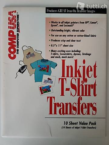 T-Shirt Druck-Papier (5 A4 Blätter)