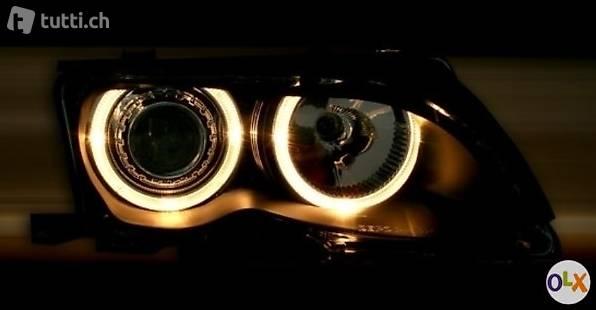 BMW E46 LIMOUSINE 10.2001+ - SCHEINWERFER ANGEL EYES