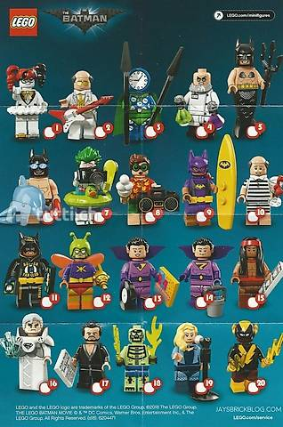 Lego Batman Serie 2, diverse Figuren