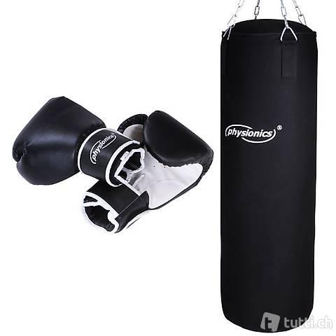 Boxsack mit Boxhandschuhen 14oz