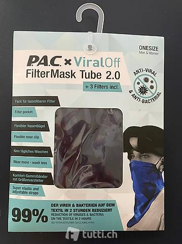 PAC Viral off Filter Mask Tube 2.0