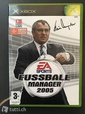 Xbox Fussball Manager 2005 PAL mit Anleitung