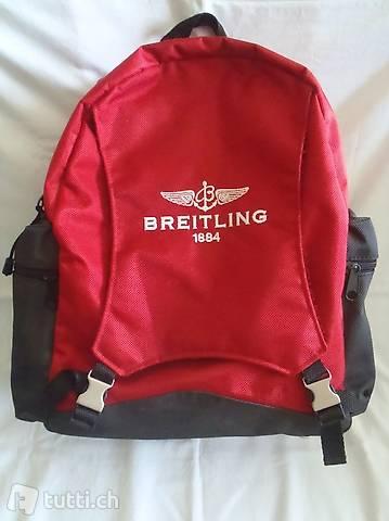 Breitling Rucksack, Rot, Weiss, rar, selten, Sammeln