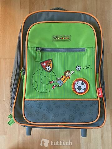 Kinderkoffer / Kindertrolley mit Fussball Motiv von Sigikid