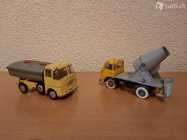 Betonmischer (Berliet) - Betonkipper (Corgy Toys)