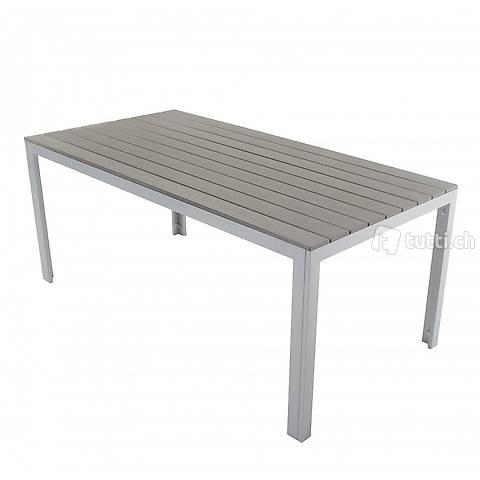 Tisch Polywood 180x90cm, grau (Gratis Versand)