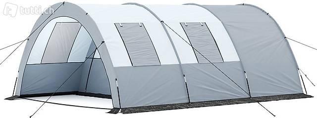 Campingzelt Tunnelzelt grau (Gratis Versand)