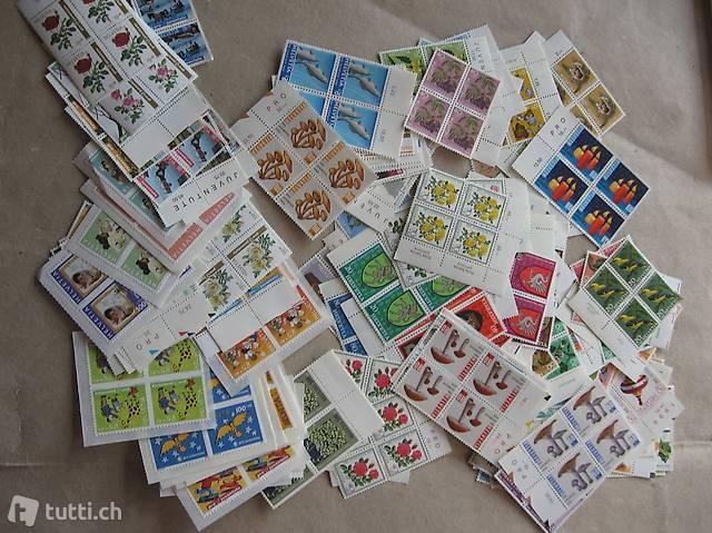 Briefmarken Pro Juventute  100 Franken 4erblöcke