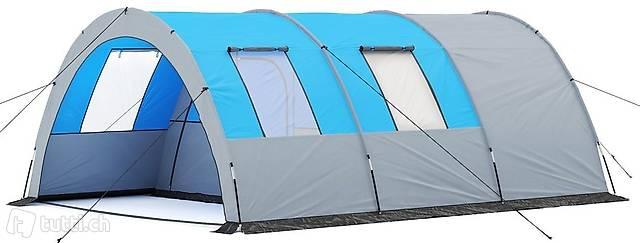 Campingzelt Tunnelzelt blau (Gratis Versand)