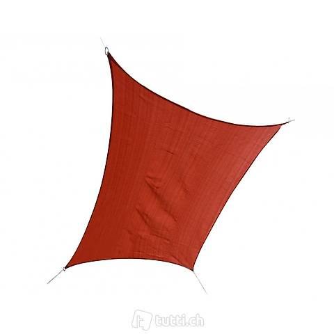 Vela solare 3x4 m rosso (Consegna gratuita)