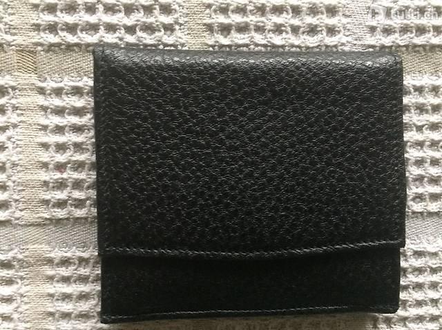 Schwarze neue Leder Brieftasche Portmonee Geldbörse
