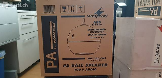 Monacor PA Ball Speaker Spritzwasser geschützt