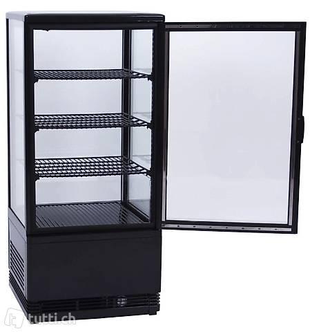 Kühlvitrine schwarz Kuchenvitrine Gastro - 80 Liter - R600A