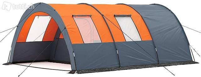 Campingzelt Tunnelzelt orange (Gratis Versand)