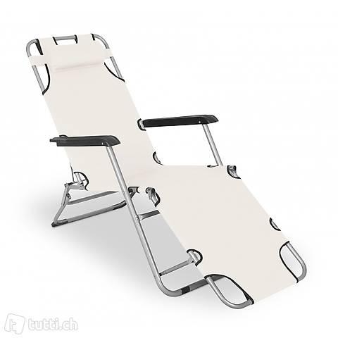 Sedia a sdraio da campeggio (beige) (Consegna gratuita)
