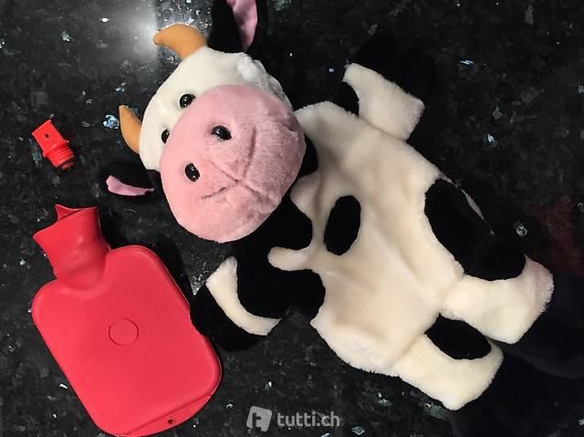 Schöne Wärmflasche Kuh, sehr gross, 50 x 35 cm