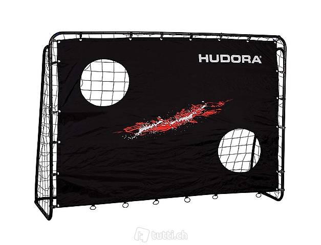 Fussballtor Hudora mit Torwand 76923