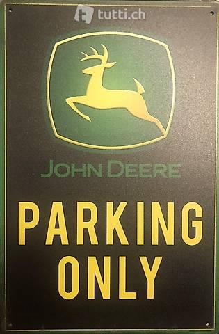 John Deere Parking Only Blechschild Sign Tractor Bauernhof