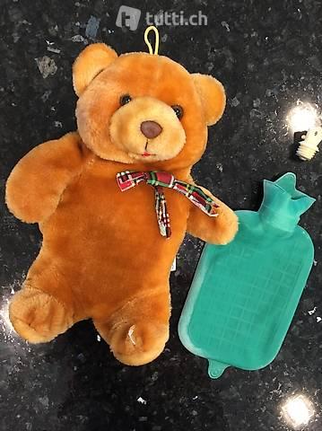 Herzige Wärmflasche Bär, ca. 35  x 27 cm