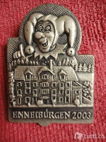 Ennetbürgen 2003, Fasnachtsabzeichen, Silber