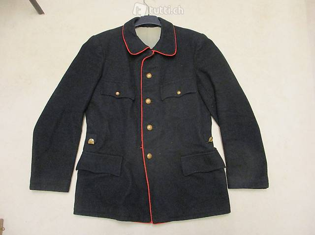 Hist. Feuerwehr-Kittel Uniform-Jacke Gr. 54 50er-Jahre