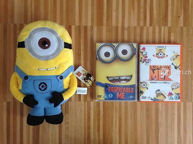 Minion Plüschtier + 2 Despicable Me DVD's