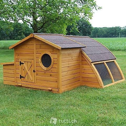 Hühnerstall Hühnerhaus Schweden mit (Gratis Lieferung)