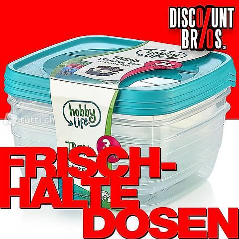 3 × 0,5 Liter Frischhaltedosen VORRATSDOSEN SET Aufbewahrung