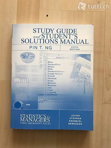 Statistics for Managers, using Microsoft Excel. 5ed Levine,