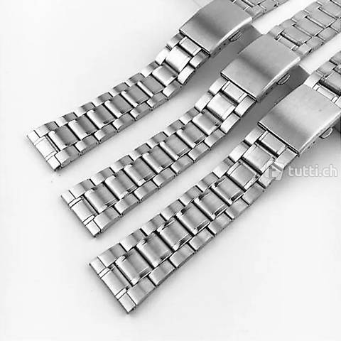 Uhrenband stahl Oyster Vintage 16, 18, 20, 22, 24 neu
