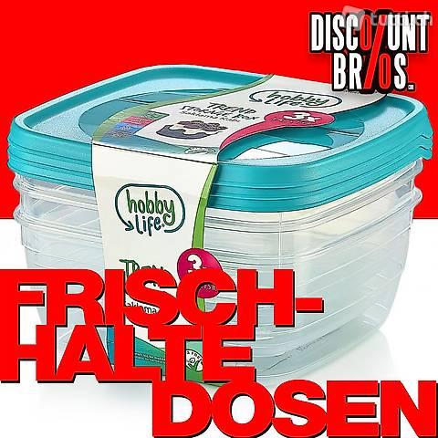 3 × 0,9 Liter Frischhaltedosen VORRATSDOSEN SET Aufbewahrung