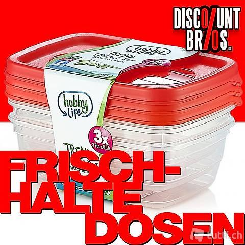 3 × 0,6 Liter Frischhaltedosen VORRATSDOSEN SET