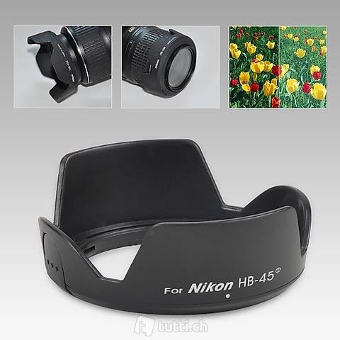Portofrei Sonnenblende Nikon HB-45 II HB45II Gegenlichtblend