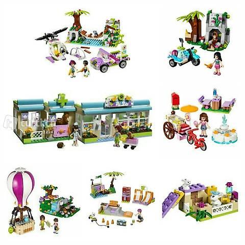 Lego Friends Set #2: 7 Sets MEGA-Pack u. a. Tierklinik, Dsch