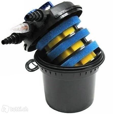 NEU Druckfilter Druckteichfilter 11W Teich Filter 11W UVC